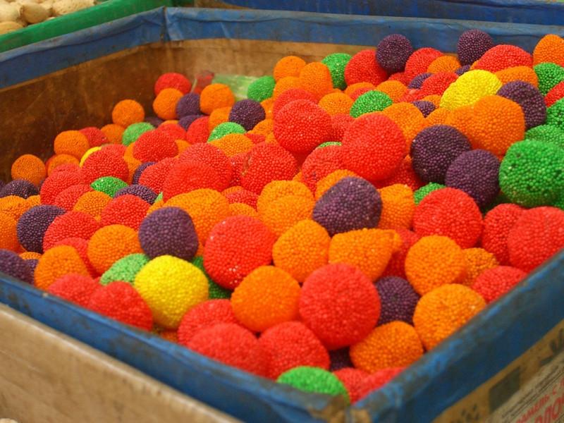 Sweet Balls at Osh Bazaar - Bishkek, Kyrgyzstan