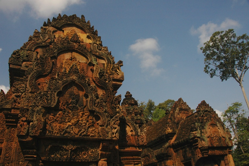 A Tower of Banteay Srei - Angkor, Cambodia