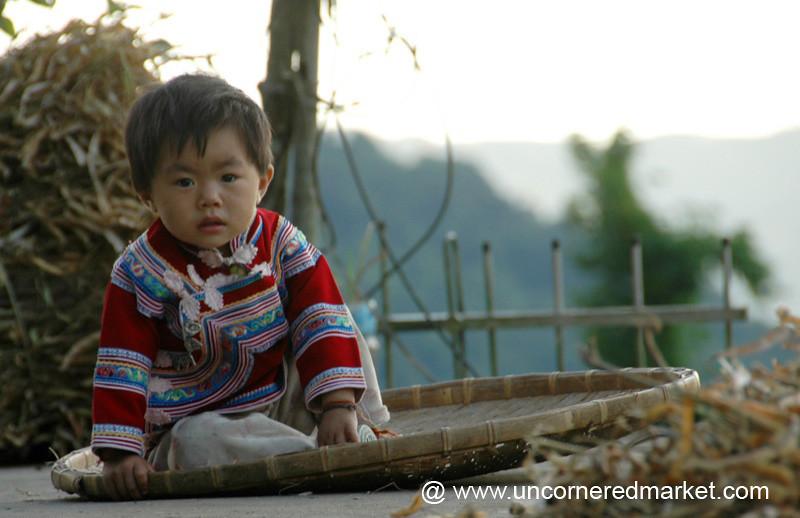 Hani Child in Traditional Dress - Yuanyang, China