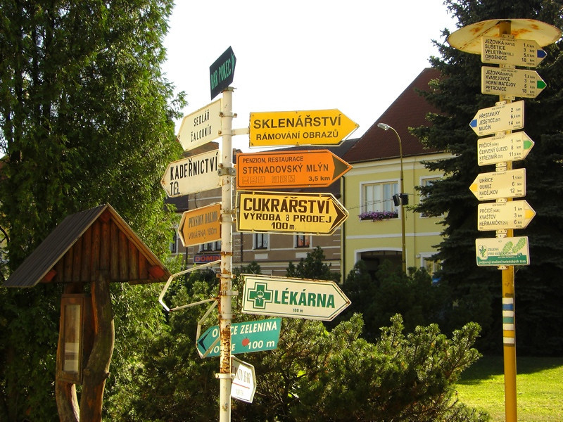 Hiking Signs - Bohemia, Czech Republic