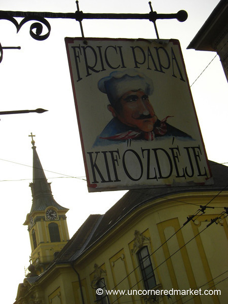 Frici Papa Restaurant Sign - Budapest, Hungary
