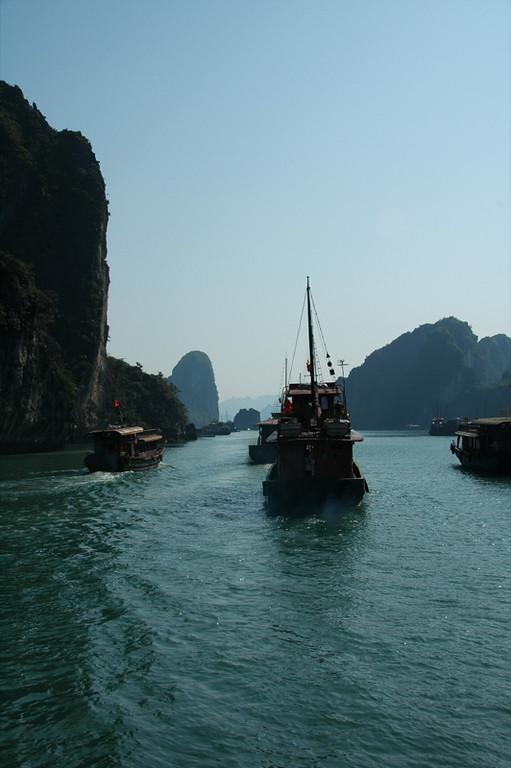 Boats in the Gulf of Tonkin - Halong Bay, Vietnam