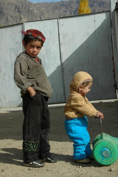 Pamiri Boys, Big and Small - Khorog, Tajikistan