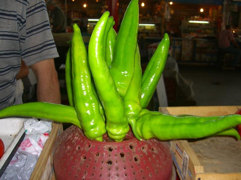 Long Green Peppers - Yerevan, Armenia