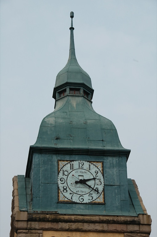 German Clock at Protestant Church - Qingdao, China