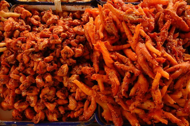 Chicken Feet, Chicken Bits - Yunnan, China