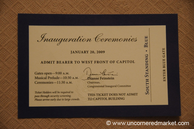 2009 Inauguration Ticket - Washington DC, USA