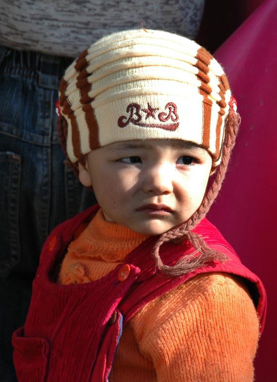 Uighur Girl with Hat - Kashgar, China