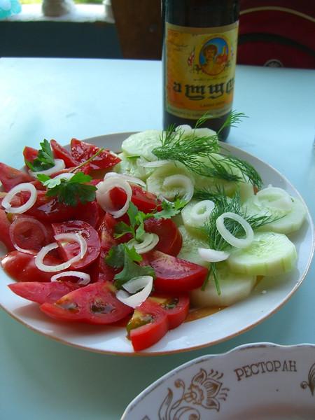 A Plate of Vegetables - Akhaltsikhe, Georgia