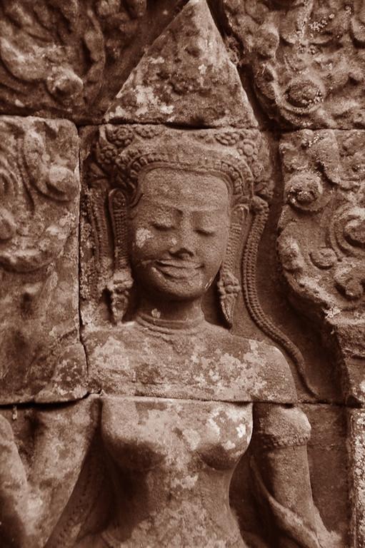 Apsara Dancer at Bayon - Angkor, Cambodia