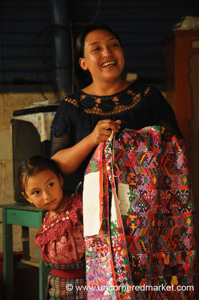 Kiva Borrower with Traditionally Woven Top - San Pedro Sacatepequez, Guatemala