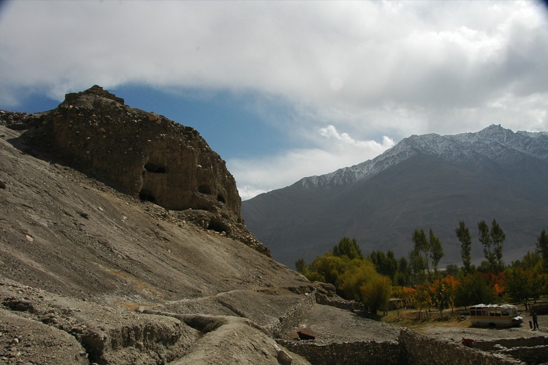 Buddhist Caves in Vrang - Pamir Mountains, Tajikistan
