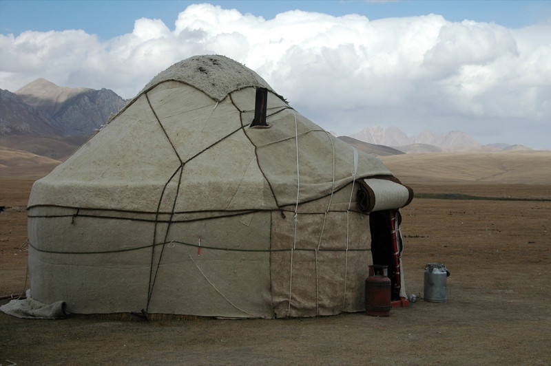 Kitchen Yurt - Song Kul, Kyrgyzstan
