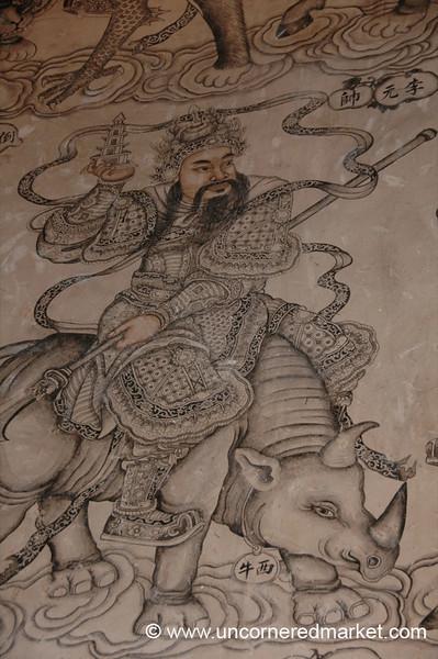 Khoo Kongsi Temple, Rhino Mural - Penang, Malaysia