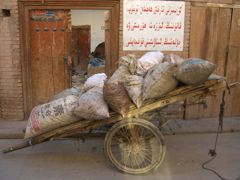 Sacks of Potatoes - Kashgar, China