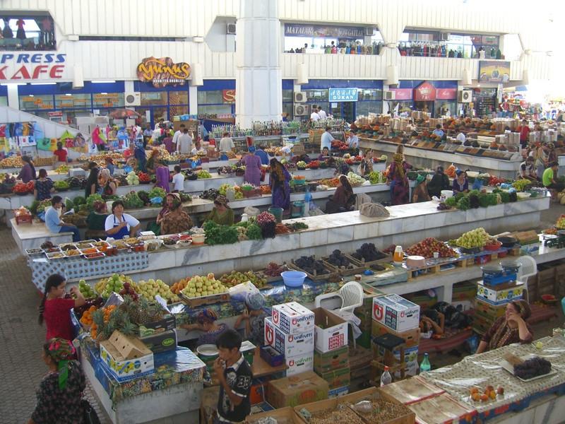 Gulustan Bazaar (Market) - Ashgabat, Turkmenistan