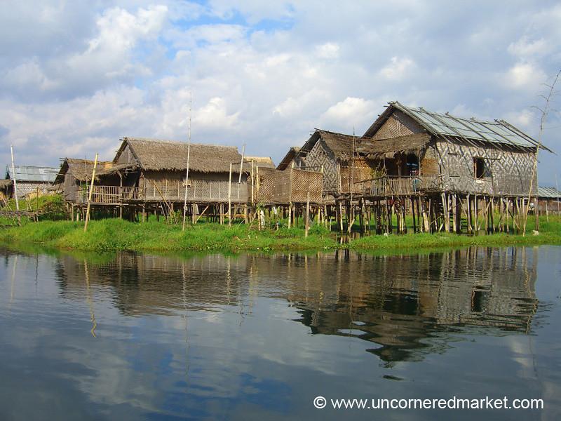 Houses on Water - Inle Lake, Burma