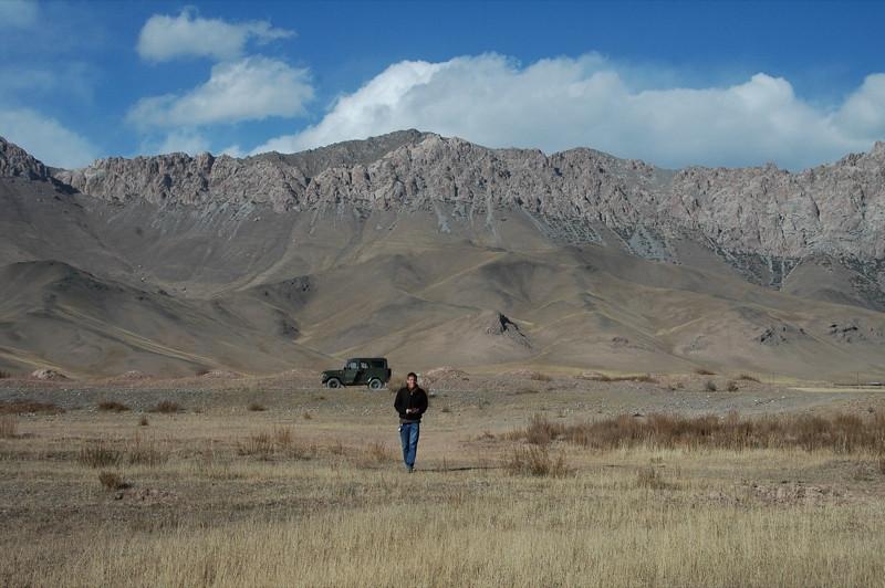 Walking Near the Mountains - Peak Lenin, Kyrgyzstan