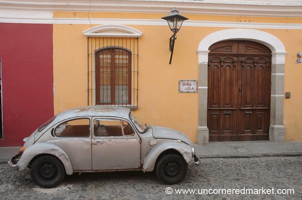 Old Volkswagen Beetle - Antigua, Guatemala