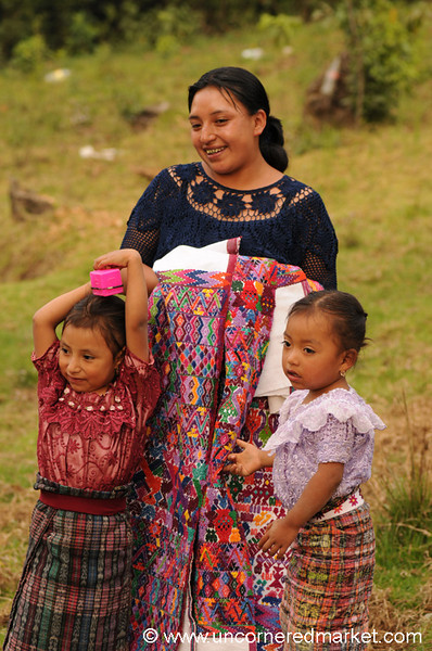 Kiva Borrower and Her Daughters - San Pedro Sacatepequez, Guatemala