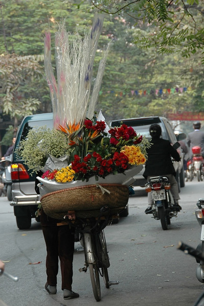 Flowers on a Bike - Hanoi, Vietnam