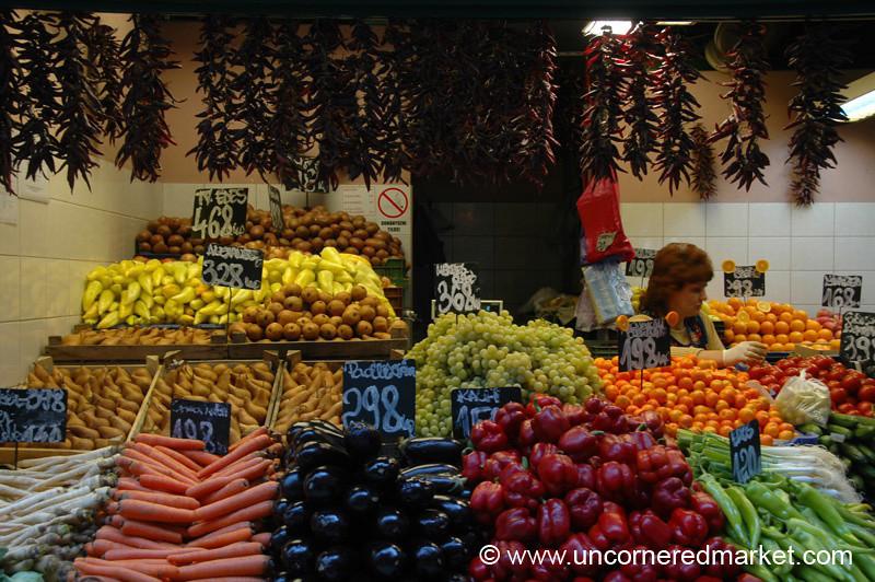 Fruits and Vegetables, Lehel Market - Budapest, Hungary