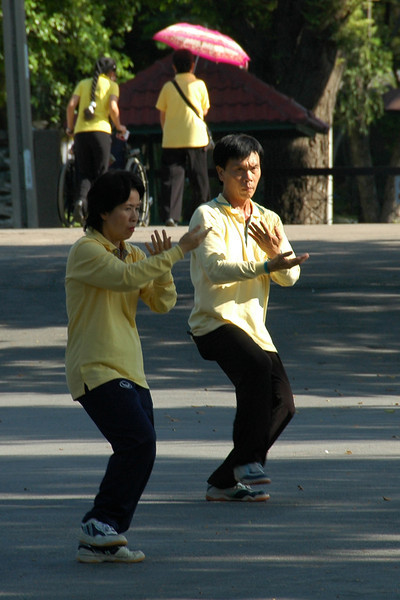 Couple doing Tai Chi - Bangkok, Thailand