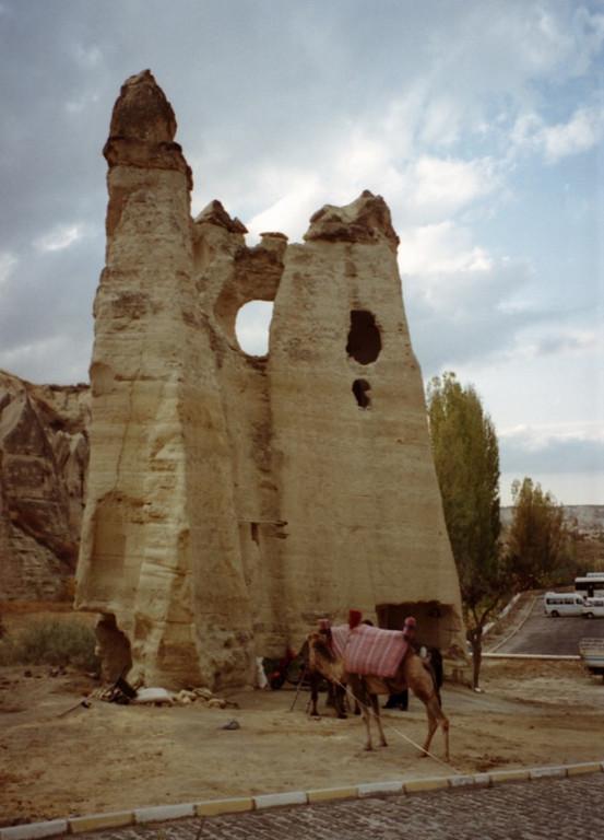 Camel and Rock Formation - Cappadocia, Turkey