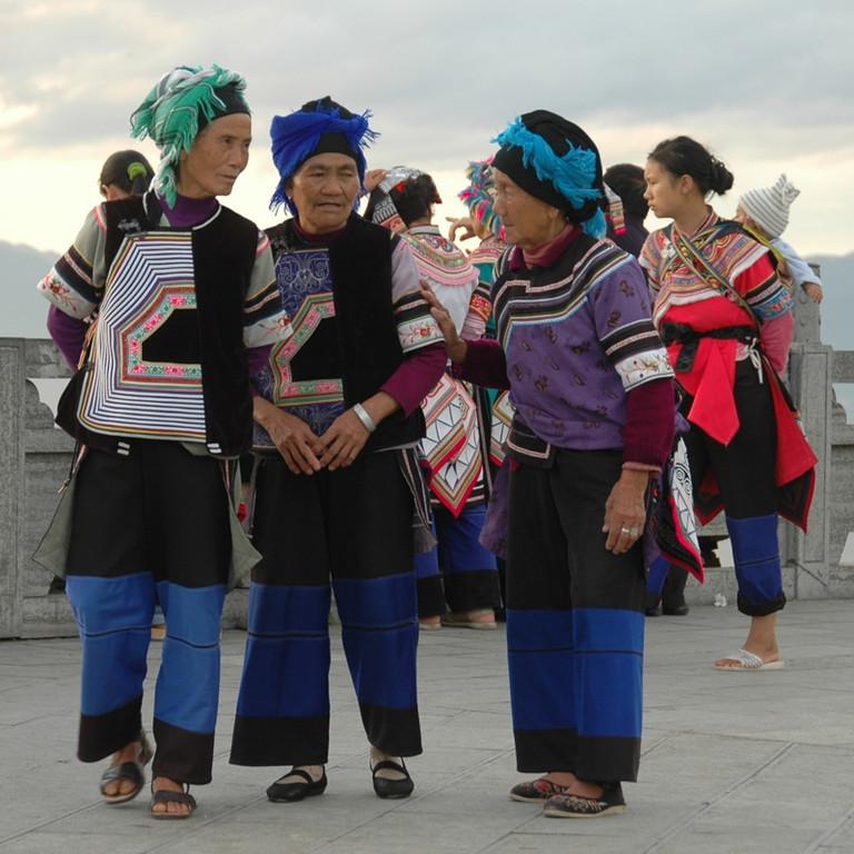 Old Hani Girlfriends - Yunnan, China