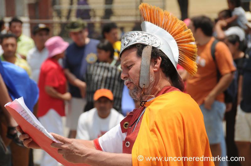 Roman Soldier Actor - Semana Santa, Antigua