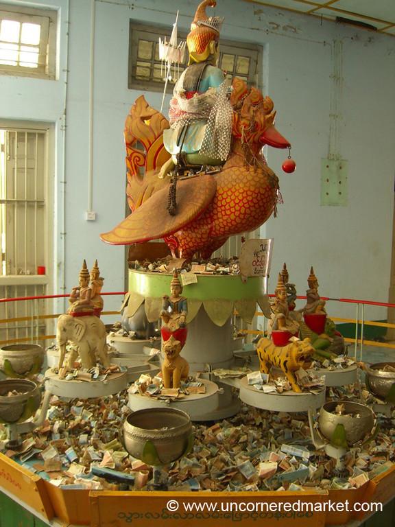Buddhist Offerings, Maha Muni Pagoda - Mandalay, Burma