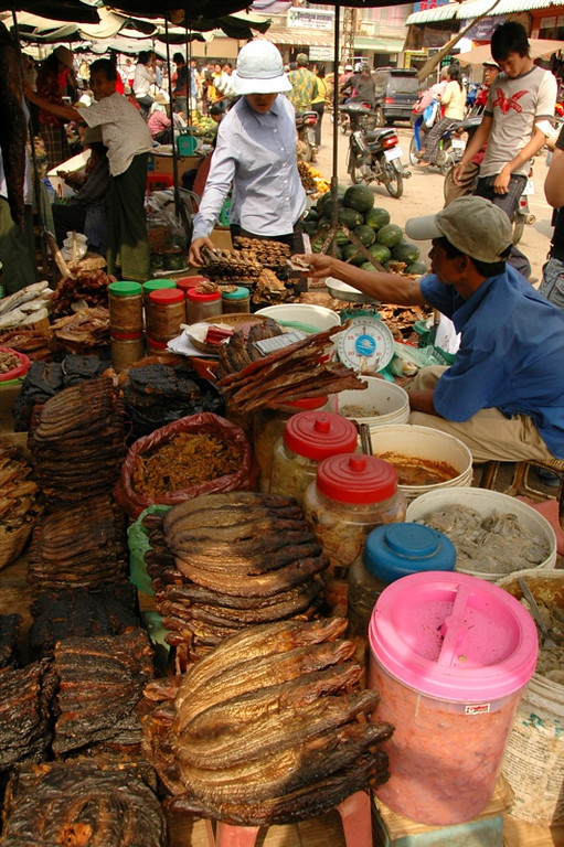 Dried Fish Stand - Battambang, Cambodia
