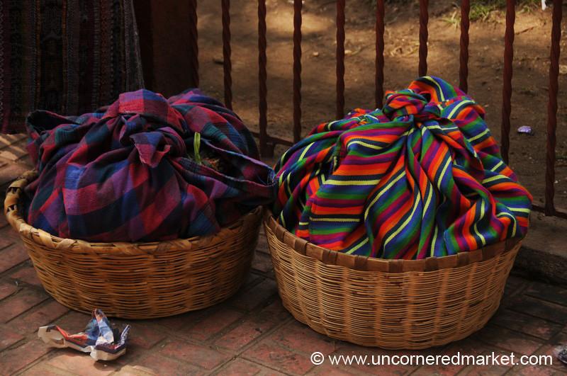 Colorful Woven Bundles - Totonicapan, Guatemala