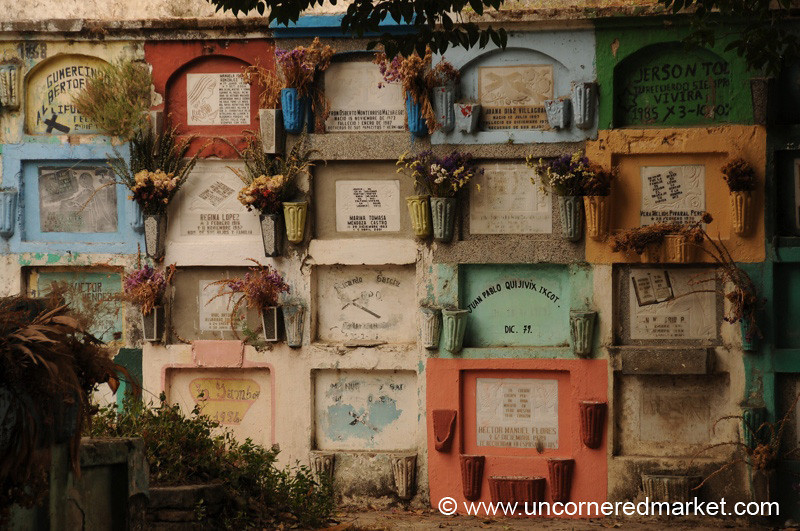 Colorful Graves, Public Cemetery - Xela, Guatemala