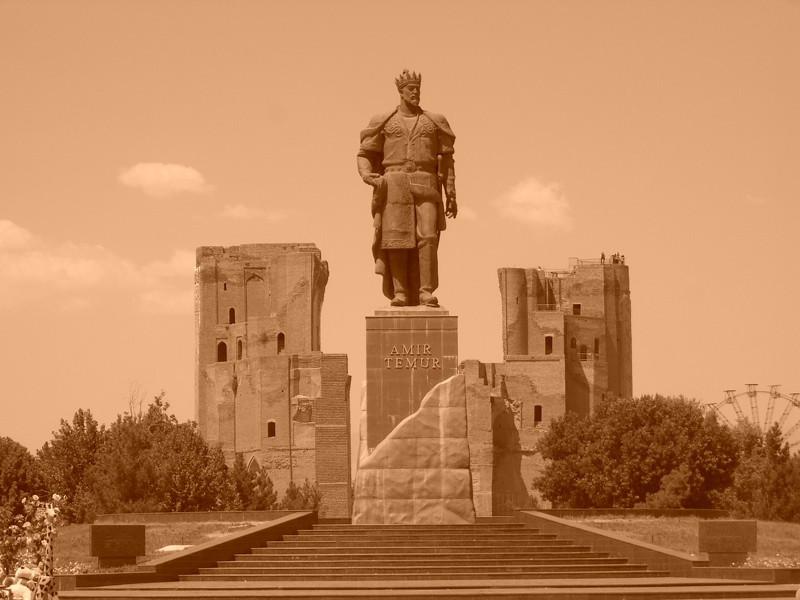 Mighty Timur in Sepia - Shakhrisabz, Uzbekistan
