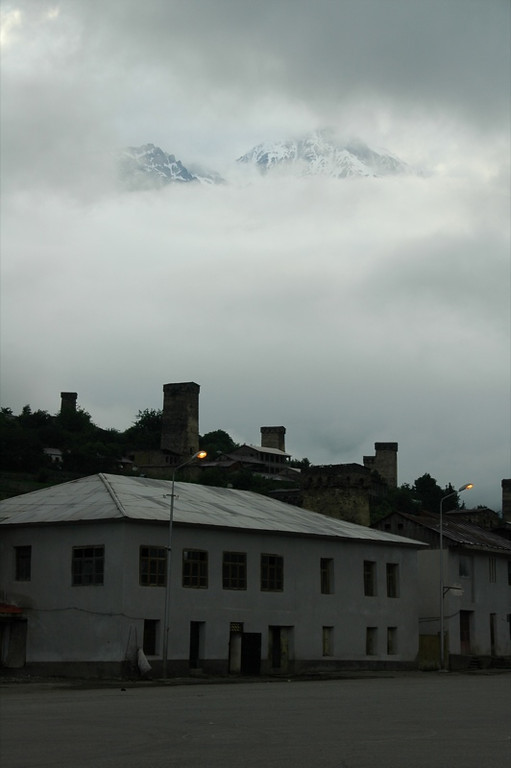 Cloudy Day with Mountain Peaks - Svaneti, Georgia