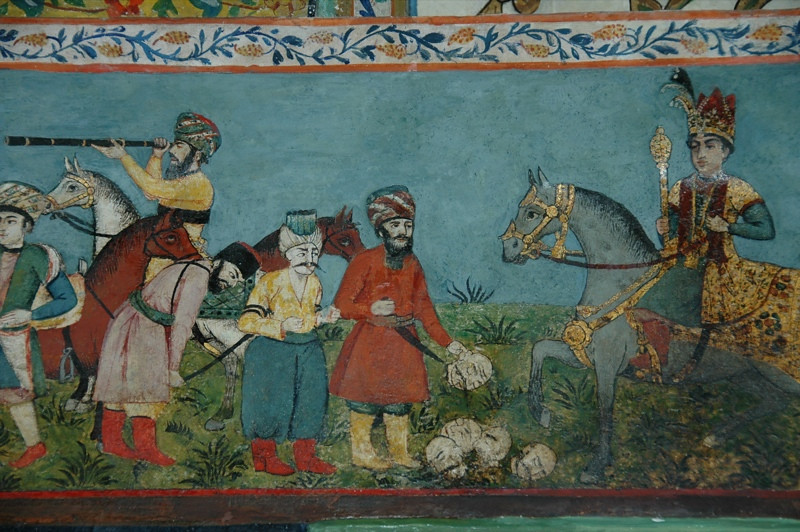 War Paintings at Khan's Palace - Sheki, Azerbaijan
