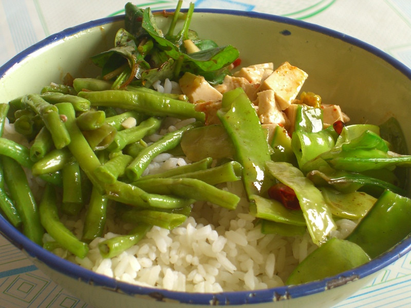 Xishuangbanna Rice with Vegetables - Yunnan, China