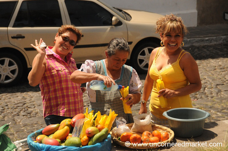 Buying Fresh Fruits - Antigua, Guatemala