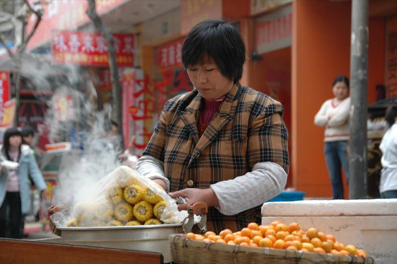 Steamed Winter Corn - Shanghai, China