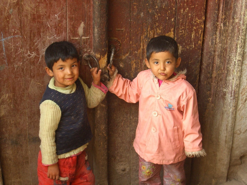 Young Uighur Kids - Kashgar, China