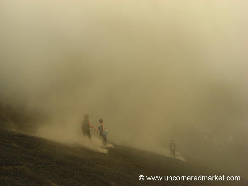 Running Down Pacaya Volcano - Guatemala