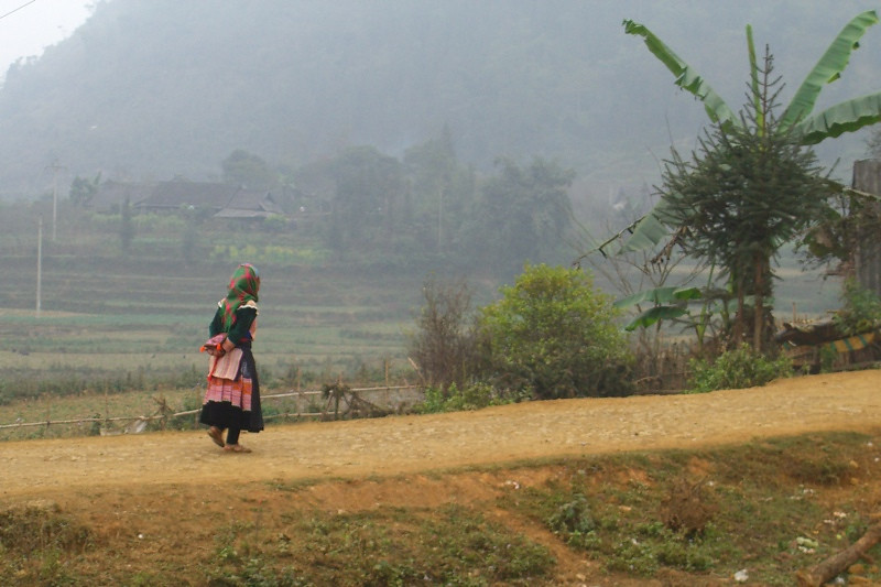 Walking Home - Bac Ha, Vietnam
