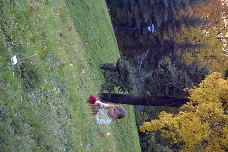 Girl on Petrin Hill - Prague, Czech Republic