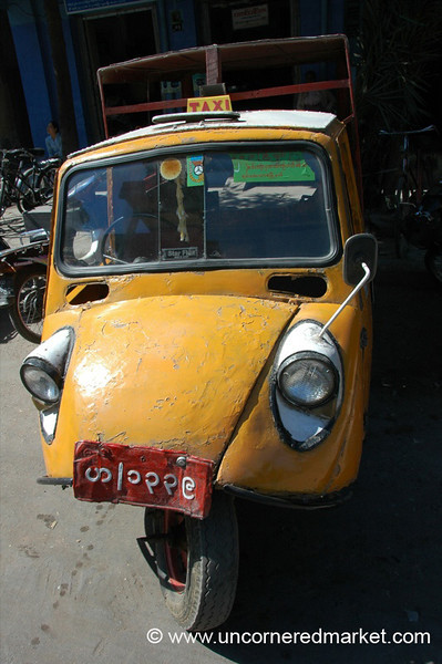 Burmese Taxi - Mandalay, Burma