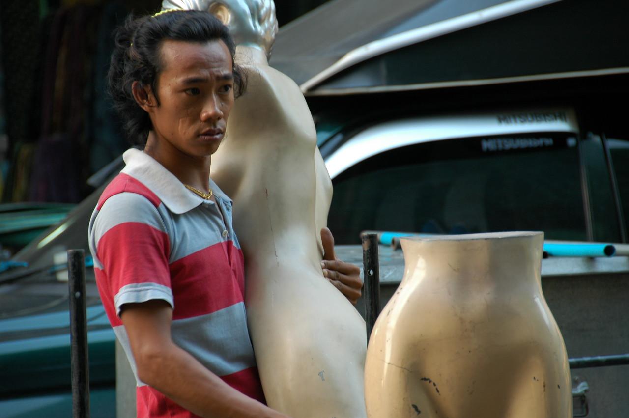 Man with a Mannequin  - Bangkok, Thailand