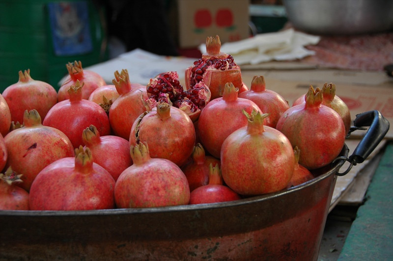 Pomegranate Piles at Osh, Kyrgyzstan