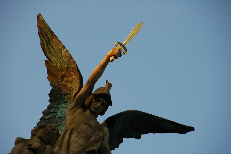 Statue at Namesti Miru - Prague, Czech Republic