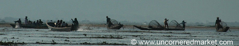 Morning Fishing - Inle Lake, Burma