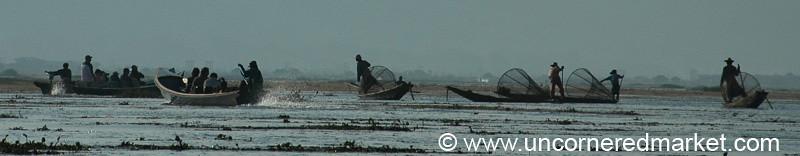 Morning Fishing - Inle Lake, Burma